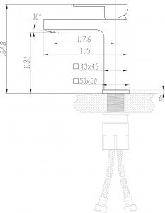 Sapho LATUS 35 stojánková umyvadlová baterie bez výpusti, chrom 1102-06