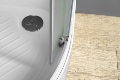 Aqualine ARLEN čtvrtkruhová sprchová zástěna 900x900 mm, sklo BRICK BTR900