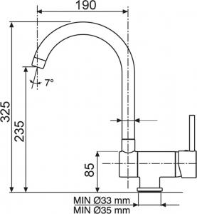 Sinks MIX WINDOW W lesklá AVMWWCL
