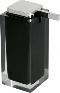 Gedy RAINBOW dávkovač mýdla na postavení, černá RA8014
