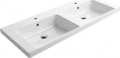 GSI NORM dvojumyvadlo 125x50 cm, bílá ExtraGlaze 8625111