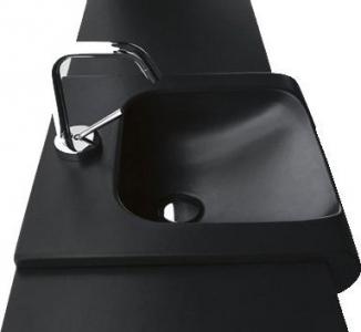 Kerasan INKA keramické umyvadlo 60x40cm, černá mat 341131