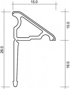 Polysan Krycí lišta okolo sprchové vaničky 120+100cm, 2x roh, 2x ukončení 91021