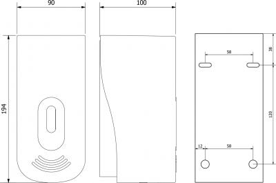 Aqualine Dávkovač tekutého mýdla nástěnný 400ml, bílý 1319-74