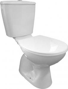 Aqualine MIGUEL WC kombi, dvojtlačítko 3/6l, spodní odpad, bílá LC2258