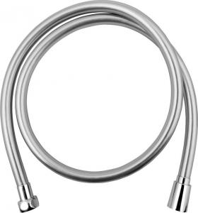 Sapho SOFTFLEX hladká sprchová plastová hadice, 120cm, metalická stříbrná/chrom 1208-10