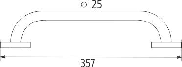 Nimco Unix Madlo k vaně 357x25mm. UN 13035BM-26