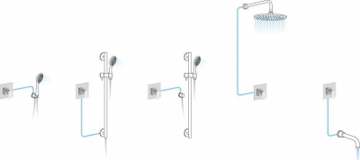 Aqualine FACTOR podomítková sprchová baterie, 1 výstup, chrom FC541