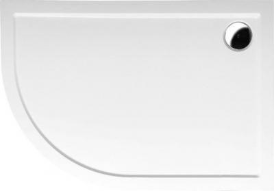 Polysan RENA R sprchová vanička z litého mramoru, čtvrtkruh 100x80x4cm, R550, pravá, bílá 76511