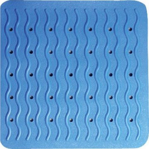 Ridder PLAYA podložka 54x54cm, s protiskluzem, kaučuk, modrá 68403
