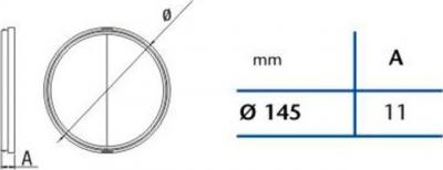 Cata Zpětná klapka 150mm 01930600