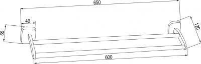 Aqualine RUMBA držák ručníků dvojitý, 600mm, chrom RB111