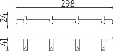Nimco Bormo Čtyřháček s jednoduchými háčky BR 11104-26