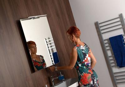 Sapho TIRA výsuvné zrcadlo s LED osvětlením 6W 600x800x54-356mm TR060