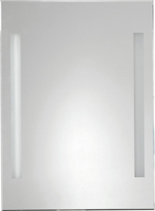 Aqualine Zrcadlo s LED osvětlením 50x70cm, kolíbkový vypínač ATH5