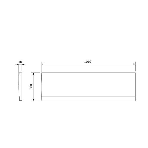Polysan DEEP PLAIN čelní panel 100x36cm, pravý 83631
