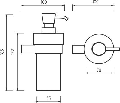 Nimco Bormo Dávkovač tekutého mýdla, pumpička plast BR 11031W-26