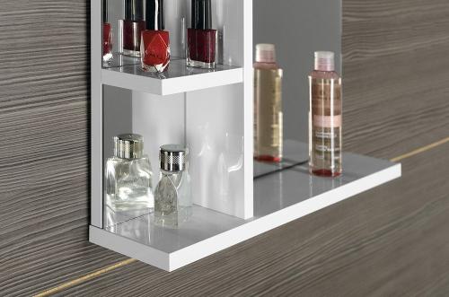 Aqualine KORIN zrcadlo s LED osvětlením a poličkami 70x70x12cm KO360