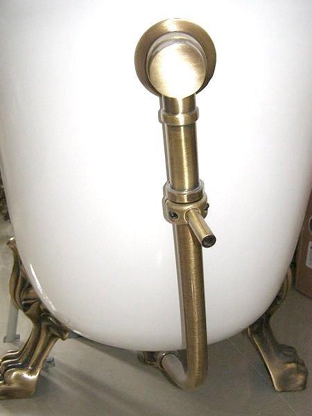 Polysan RETRO vanová souprava pro vnější instalaci, řetízek, včetně sifonu, bronz 71690