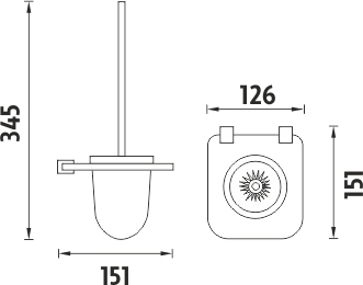 Nimco Bormo ixi Toaletní WC kartáč BR X3-94WN-26
