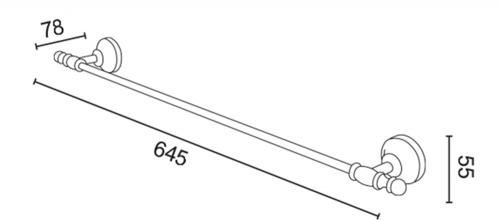 Sapho PERLA držák ručníků 645x78mm, růžové zlato PE0117