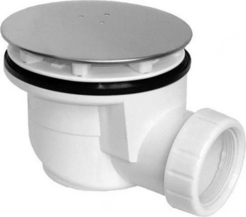Sapho Vaničkový sifon, průměr otvoru 90 mm, DN50, krytka leštěný nerez EWN0850