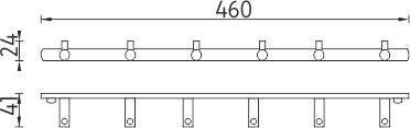 Nimco Bormo Šestiháček jednoduchý BR 11109-26
