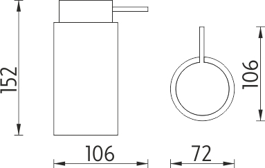 Nimco Pure Dávkovač tekutého mýdla PU 7031-40