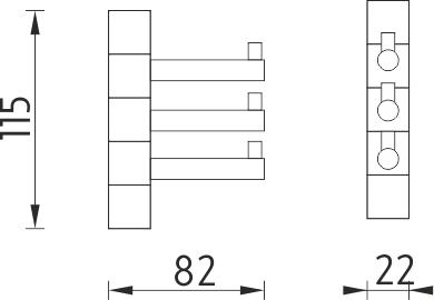 Nimco Bormo Trojitý otočný háček BR 11099-3-26