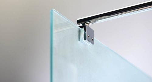 Aqualine WALK-IN zástěna jednodílná k instalaci na zeď, 900x1900 mm WI090