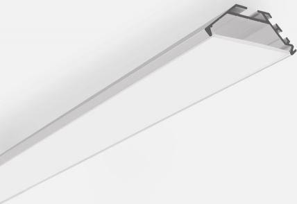 Sapho Led LED rohový profil 45x17mm, eloxovaný hliník, 2m KL6367-2