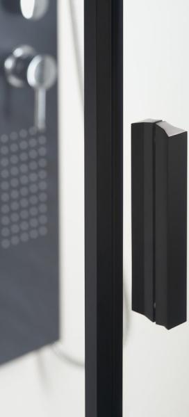 Polysan ZOOM LINE BLACK čtvrtkruhová sprchová zástěna 900x900mm, čiré sklo, pravá ZL2615BR
