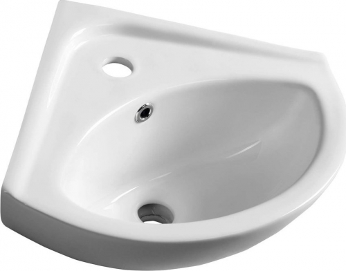 Aqualine LUIGI keramické rohové umývátko 34x34cm, bílá FS161