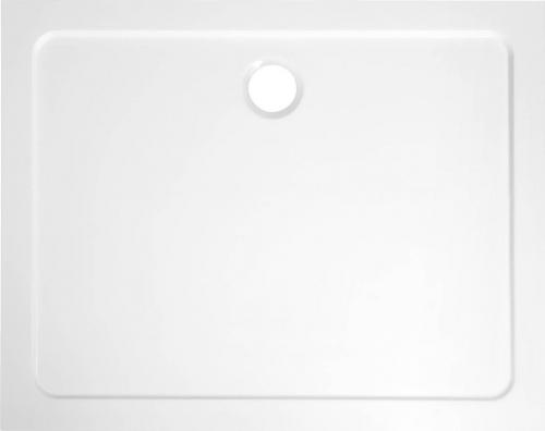 Aqualine TECMI sprchová vanička z litého mramoru, 100x80x3 cm PQ10080
