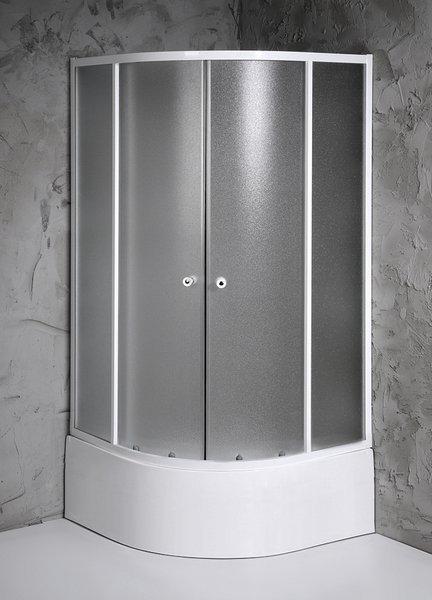 Aqualine ARLEN čtvrtkruhová sprchová zástěna 800x800x1500 mm, sklo BRICK BTR803