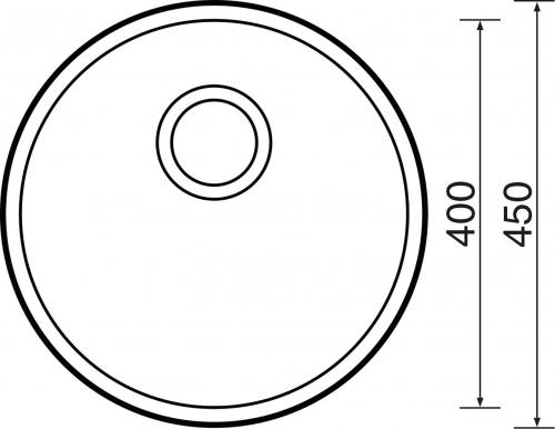 Nerezový dřez Sinks ROUND 450 M 0,6mm matný STSROM4506M