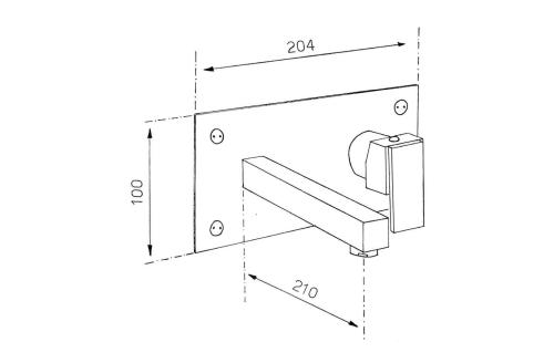 Reitano Rubinetteria MASTERMAX podomítková umyvadlová baterie, chrom 8752