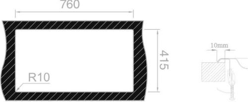 Nerezový dřez Sinks OKIO 780 V 0,5mm matný RDOKM7804355V