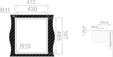 Nerezový dřez Sinks BOXER 450 MP68148