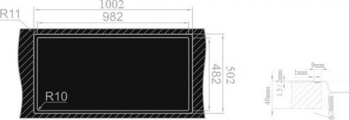 Nerezový dřez Sinks EVO 1000 1,2mm MP68135