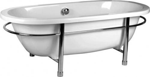 Polysan MATRIX C volně stojící vana 175x80x60cm, bílá, nerezová konstrukce 39113