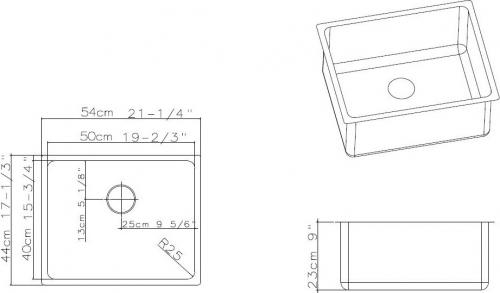 Nerezový dřez Sinks BLOCK 540 V MP68291