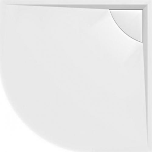 Polysan LUSSA sprchová vanička z litého mramoru se záklopem, čtvrtkruh 90x90x4cm, R500 78736