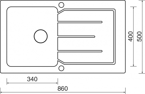 Sinks VITRUM 860 V 1mm kartáčovaný MP68303