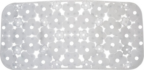 Aqualine MARGHERITA podložka do vany 34, 5x72cm s protiskluzem, PVC, čirá 973572P2