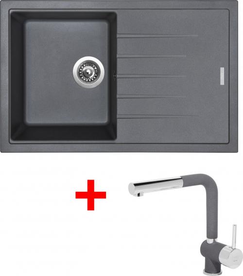 Granitový dřez Sinks BEST 780 Titanium+MIX 3P GR ACRB780M3P72