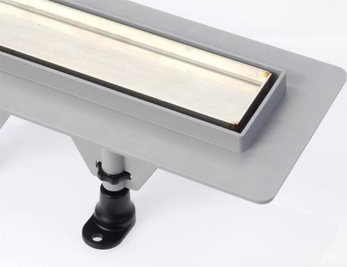 Polysan TILE plastový sprchový kanálek s nerezovým roštem pro dlažbu, 920x123x66 mm 72839
