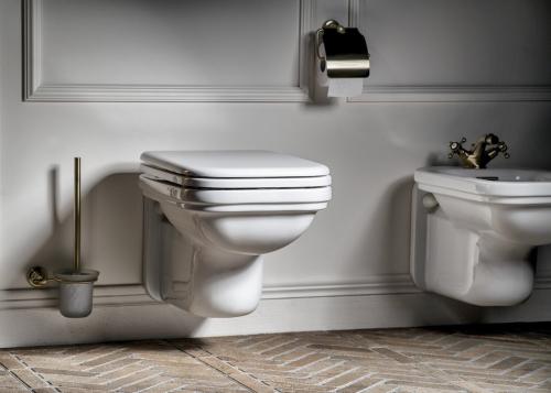 Kerasan WALDORF WC sedátko, Soft Close, bílá/chrom 418801
