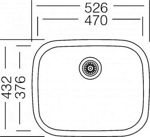 Nerezový dřez Sinks NEPTUN 526 M 0,6mm matný STSNEM5264326M