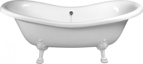 Polysan CHARLESTON volně stojící vana 188x80x71cm, nohy bílé, bílá 38112